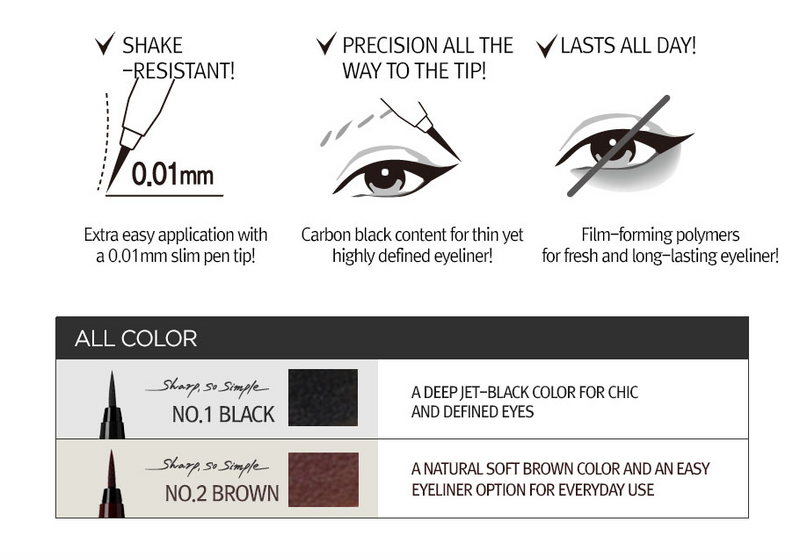 Clio Sharp, So Simple Waterproof Pen Liner - Olive Kollection