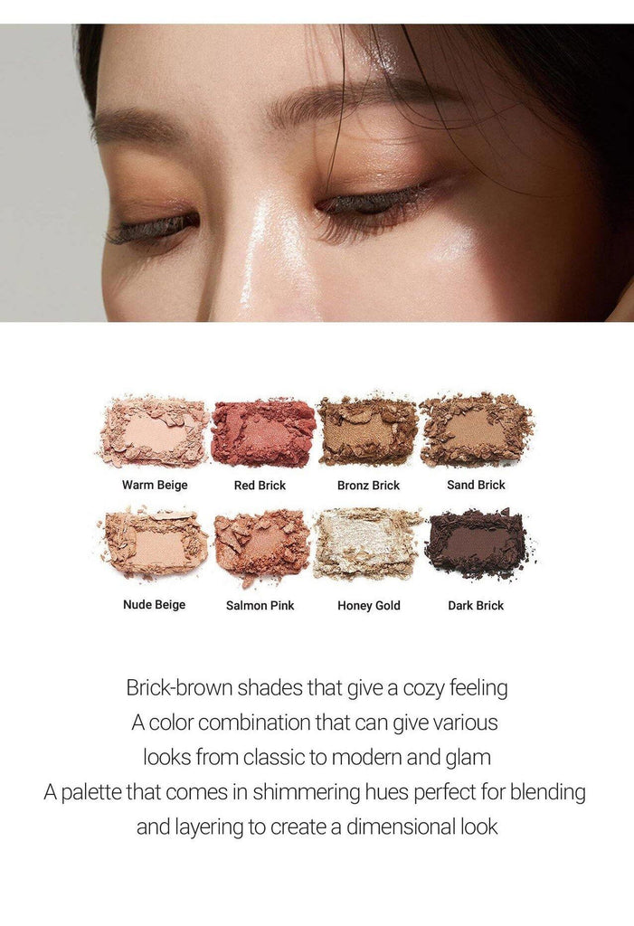 Heimish Dailyism Eye Palette Brick Brown - Olive Kollection