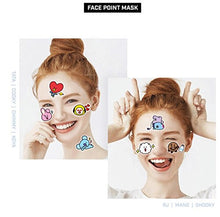Load image into Gallery viewer, Mediheal BT21 BTS x Face Point Mask (Box - 4 Sheets) - Olive Kollection