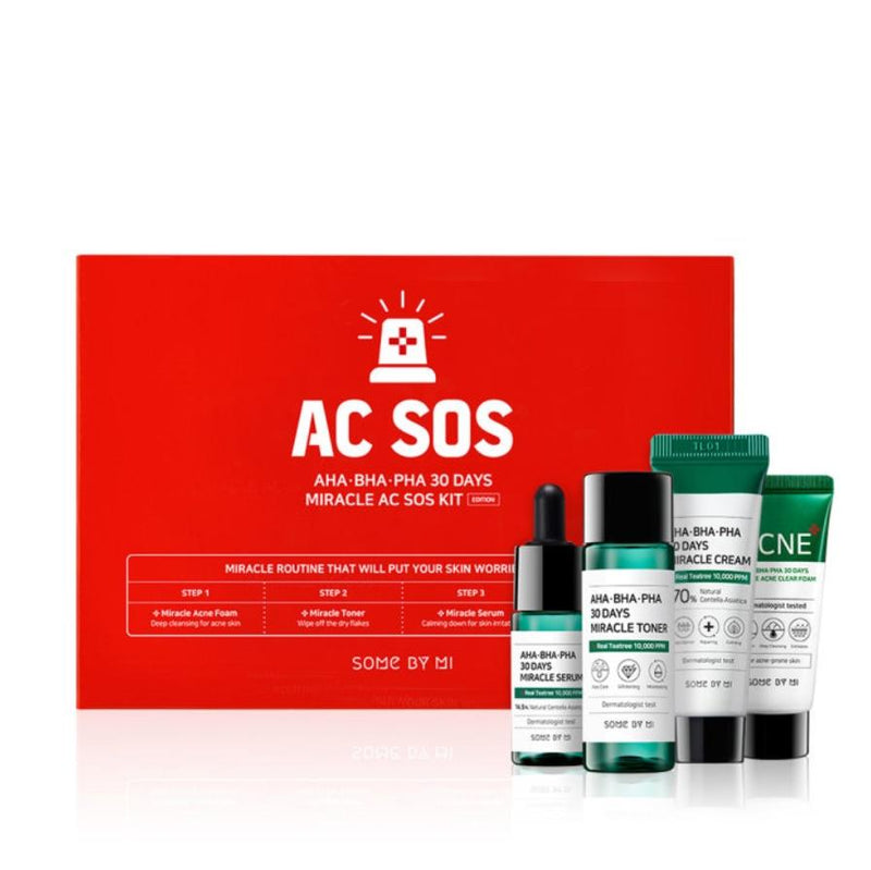 Some By Mi AHA BHA PHA 30 Days Miracle AC SOS Kit - Olive Kollection