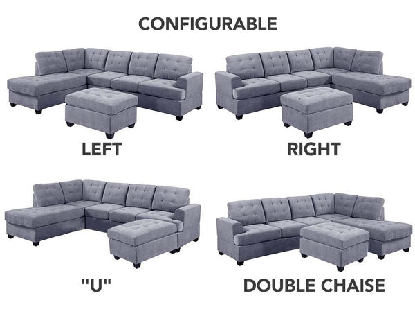 left- and right-facing sectional sofa