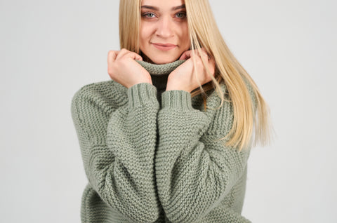 Green sage sweater mammyhug