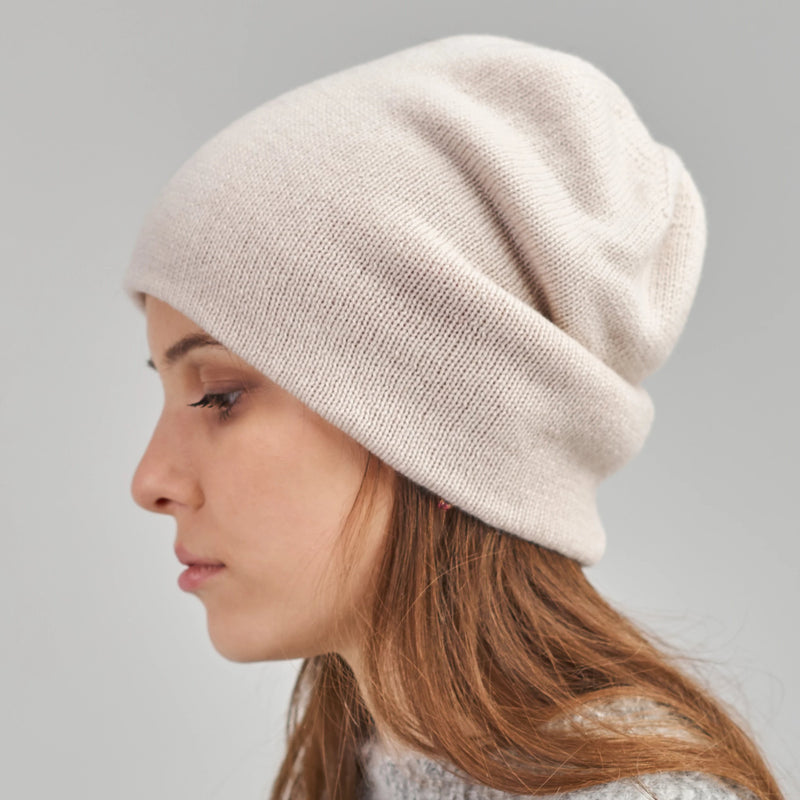Double-sided Jacquard Cashmere Beanie