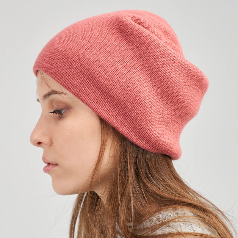 Warm two-sided cashmere beanie
