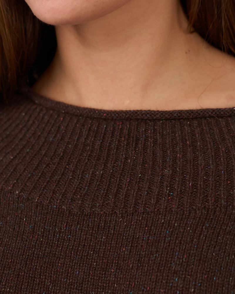collar of warm cashmere sweater close-up