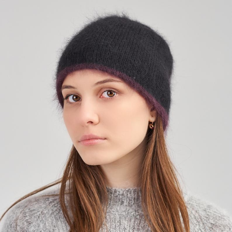 black beanie hat on a young girl