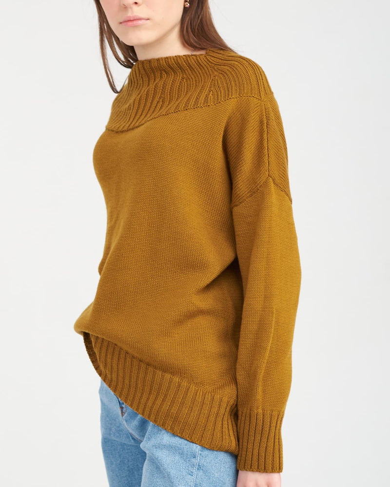 stylish knitted sweater with long sleeves