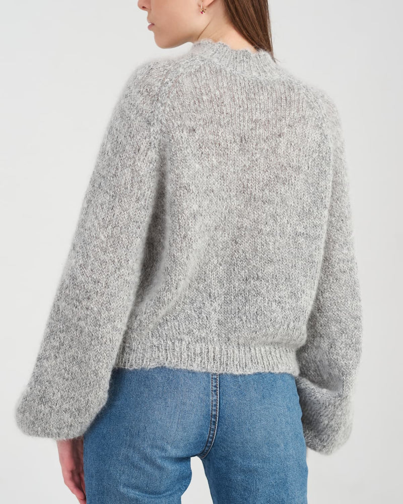 Knitted sweater back view