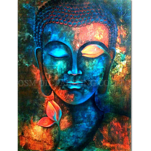 Buddha Oil Painting on Canvas Rich Colors