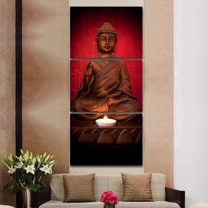 LIMITED EDITION 3 Piece Buddha Canvas Painting