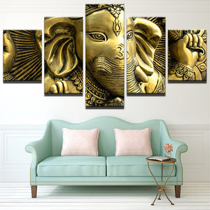 LIMITED EDITION GANESHA DIVINE 5-PIECE CANVAS PAINTING