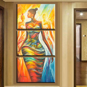 Modern Abstract African Women Canvas Painting
