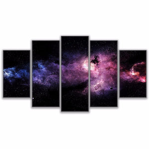 LIMITED EDITION Starry Sky 5 Pieces Canvas Painting