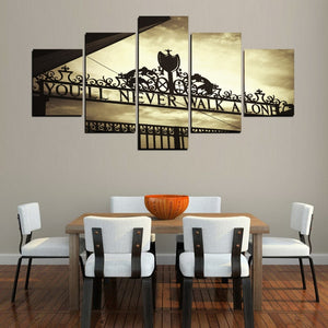 Never Walk Alone 5 Pieces Canvas Painting