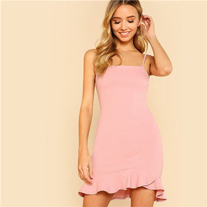 Sexy Pink Pastel Party Dress