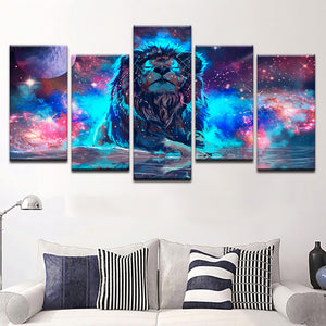 LIMITED EDITION Lion Constellation Canvas Painting