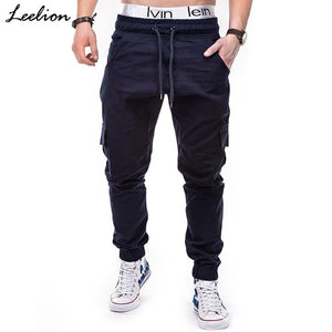 Pocket Elastic Mens Joggers