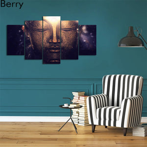LIMITED EDITION  Buddha 5 Pieces Diamond CanvasPainting
