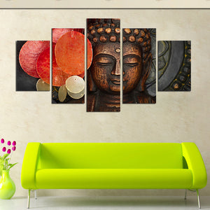5 Pieces Diamonds Canvas Painting