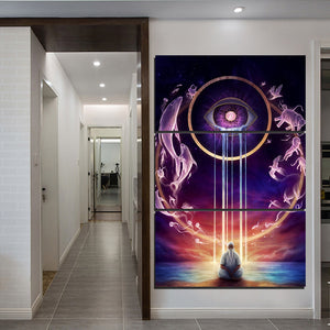 Third Eye Meditation Canvas Painting