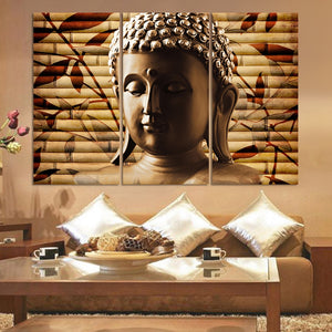 LIMITED EDITION Buddha 3pieces Canvas Painting