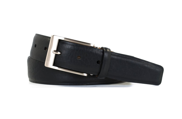 Black Bison Leather Belt