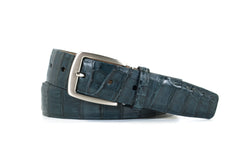 Navy Caiman Crocodile Belt