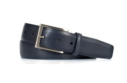 Navy Pebble Grain Leather Belt