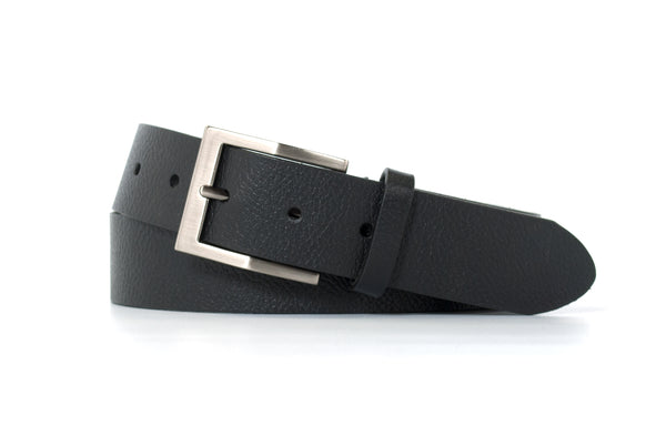 Black Textured Belt