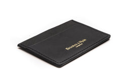 Black Saffian 3 Pocket Card Case