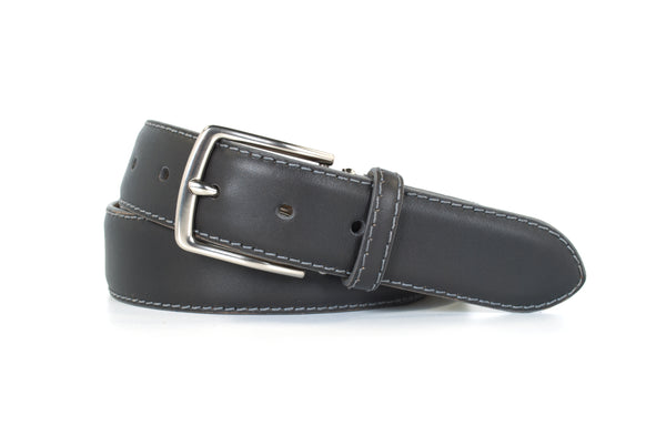 Charcoal Aniline Leather Belt