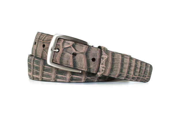 2 Tone Caiman Crocodile Belt