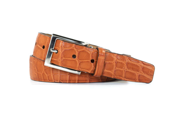 Cognac American Alligator Belt