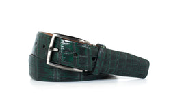 2 Tone Forest Green Nile Crocodile Belt