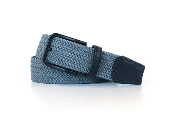 Grey Elastic Stretch Woven Belt