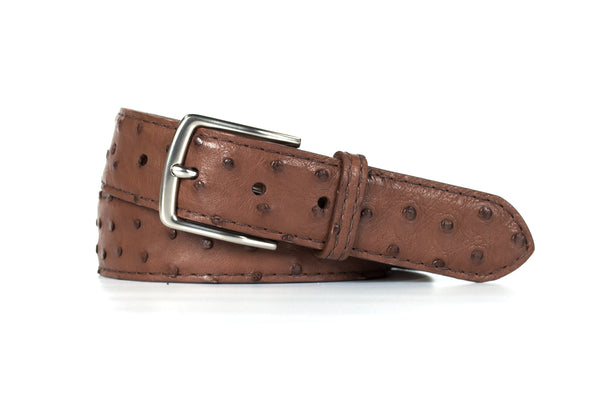 Chocolate Ostrich Belt