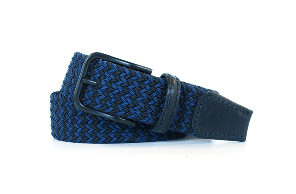 Navy and Black Elastic Stretch Woven Belt