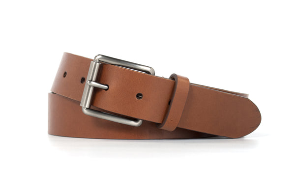 Brown Roller Buckle Belt