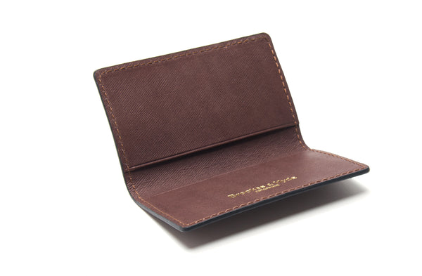 Roasted Coffee Saffiann 2 Pocket Card Case