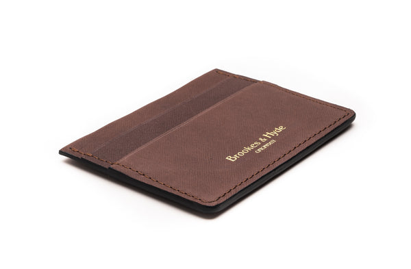Roasted Coffee Saffiann 5 Pocket Card Case