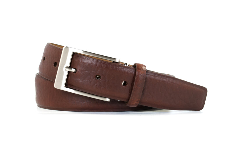 Saddle Tan Bison Leather Belt