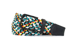 Turquoise Multi Colored Elastic Stretch Woven Belt