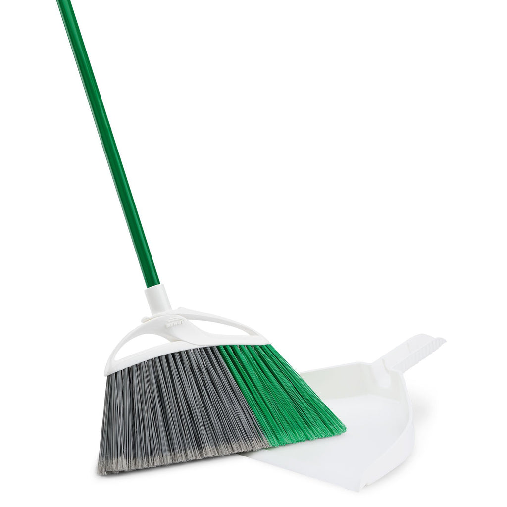 EXTRA LARGE PRECISION ANGLE® BROOM WITH DUSTPAN