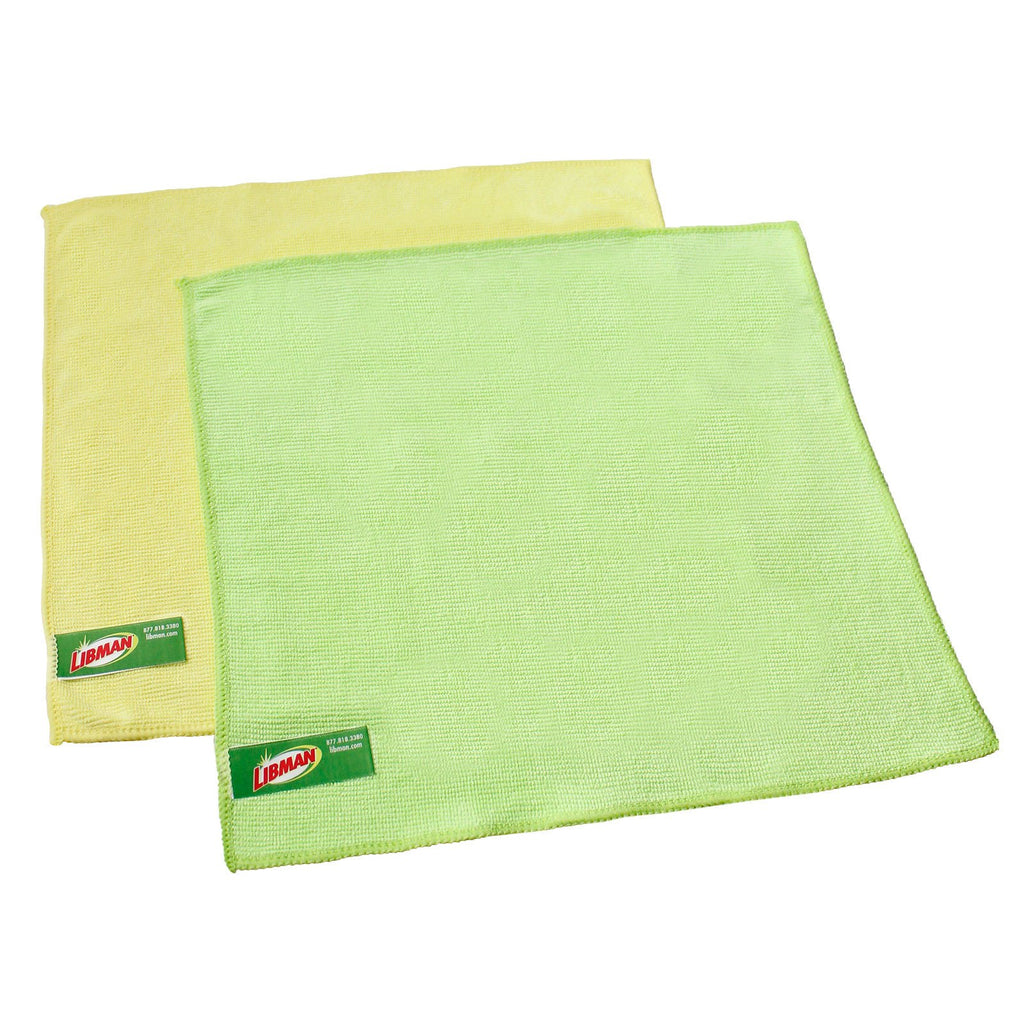 Premium microfiber cloths.  Color coded.