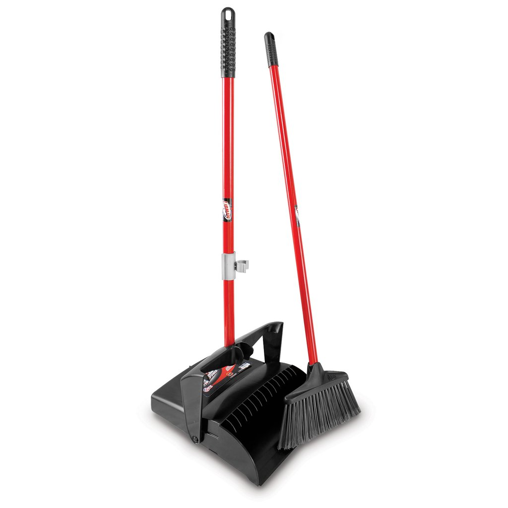 LOBBY BROOM & DUST PAN (OPEN LID)