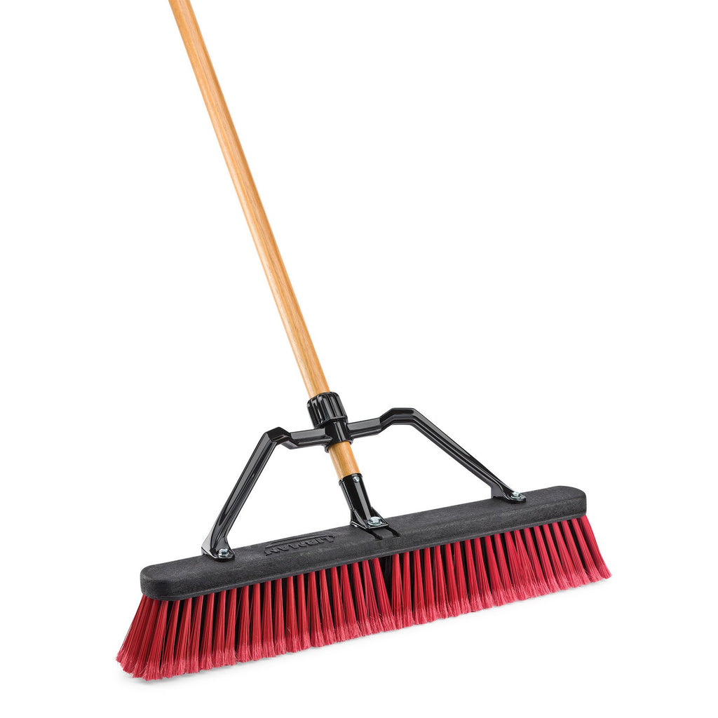 "24"" High Power Commercial Multi Surface Push Broom"