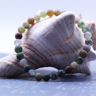 Indian Agate Stretch Bracelet Bracelet - Favored Whispers
