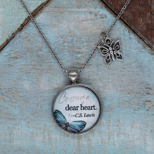 Courage Dear Heart Necklace Necklace - Favored Whispers