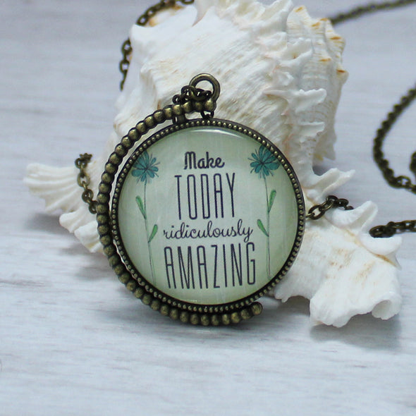 Make Today Ridiculously Amazing Two Sided Swivel Necklace