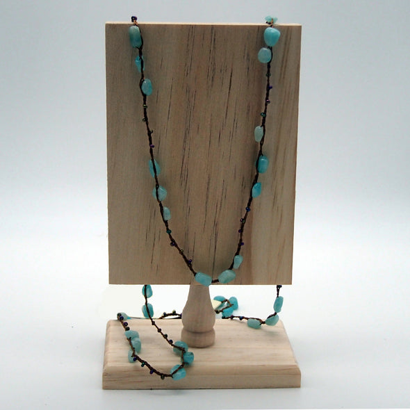 Amazonite With Multi Color Beads Toggle Necklace Necklace - Favored Whispers